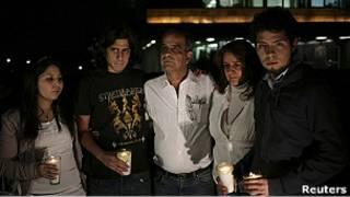 Familiares de Adriana Morlett, desaparecida.