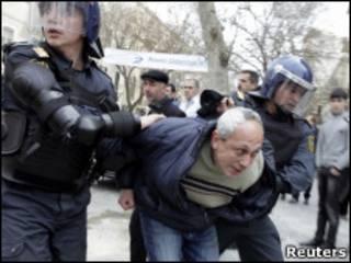 تظاهرات مخالفان در باکو