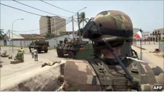 جنود فرنسيون في ساحل العاج