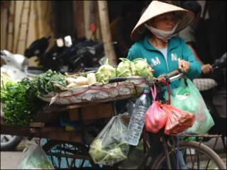 Một người bán rau ở Việt Nam