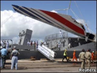 Destroços do Airbus da Air France encontrados em 2009