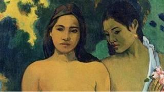 لوحة امرأتين من تاهيتي