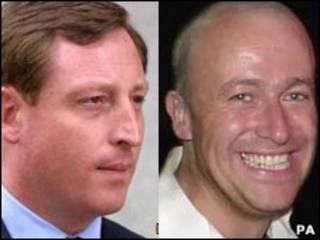 Os jornalistas Neville Thurlbeck e Ian Edmonson.