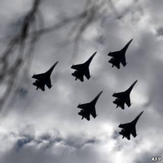"""""""Русские витязи""""  в небе над подмосковной Кубинкой"""