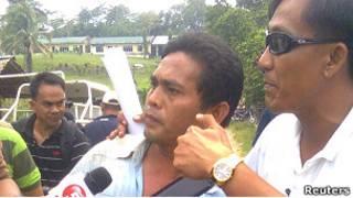 Один из освобожденных заложников на Филиппинах