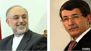 احمد داود اوغلو و علی اکبر صالحی