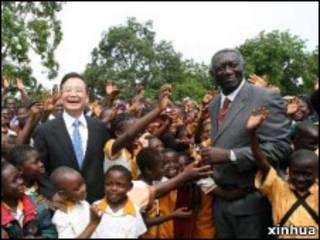 中國總理溫家寶2006年訪問加納