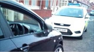 Машина, в которой пытался скрыться грабитель