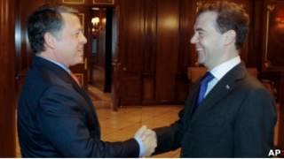 Президент России Дмитрий Медведев и король Иордании Абдалла