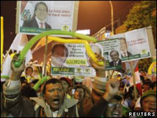 Simpatizantes de Toledo em Lima, na última quarta-feira