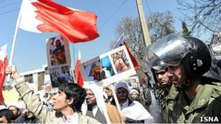 صحنه ای از تظاهرات مخالفان در بحرین