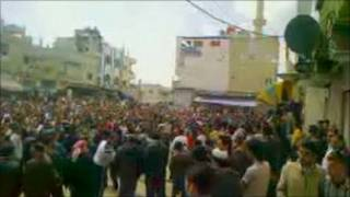 Dera'daki protesto gösterisi