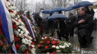 Поляки на месте авиакатастрофы под Смоленском