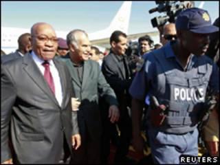 Jacob Zuma em Trípoli em abril