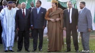 ملاقات هیات اتحادیه آفریقا و قذافی