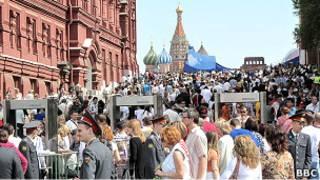 Россияне на Красной площади
