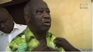 Гбагбо после ареста