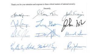 Собственноручные подписи под письмом 39 сенаторов