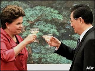 Dilma Rousseff e Hu Jintao