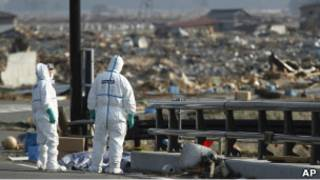 "Полицейские рядом с АЭС ""Фукусима-1"""