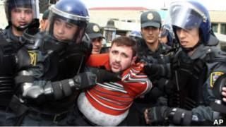 Задержание в Баку 2 апреля