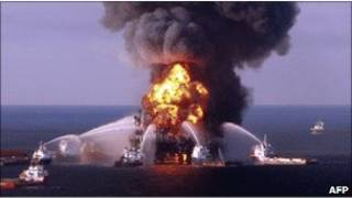 Пожар на платформе BP