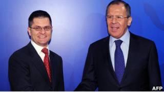 Вук Еремич и Сергей Лавров
