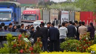 上海貨車司機罷工現場(21/04/2011)
