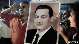 Cторонники Мубарака в Египте