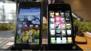 galaxy и iphone4