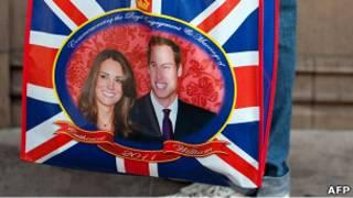 Сумка с изображением принца Уильяма и Кейт Миддлтон