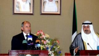 وزير الخارجية الكويتي ورئيس المجلس الانتقالي
