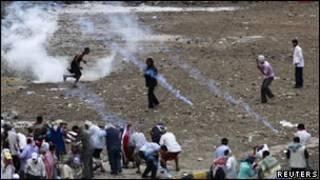 درگیری نیروهای امنیتی و مخالفان دولت یمن در شهر تعز