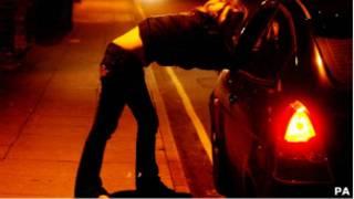 Проститутка у машины