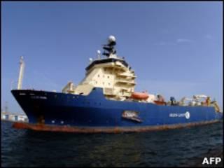 O navio francês Ile de Seine