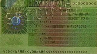 Образец первой шенгенской визы
