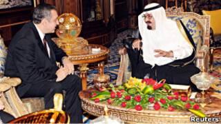نخست وزیر مصر و پادشاه عربستان