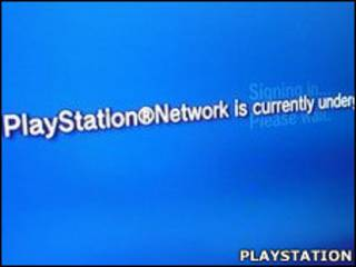 Tela do Playstation após ataque de hacker (Playstation)