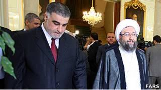 صادق لاریجانی و حسن حلبوص حمزه الشمری