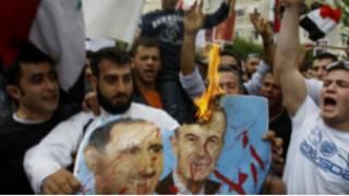 مظاهرات الاحتجاج في سوريا