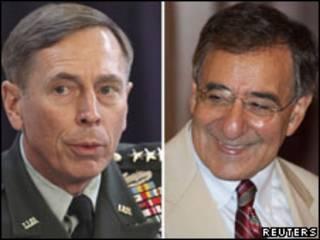 Petraeus (à esq.) e Panetta (Fotos: Reuters)