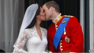 威廉和凱特的皇家之吻