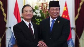 溫家寶與印尼總統蘇希洛舉行了會談