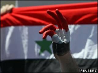 Protesto contra o governo sírio em Amã, Jordânia, no domingo (Foto: Reuters)