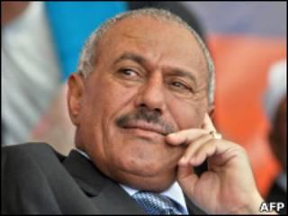 O presidente do Iêmen, Ali Abdullah Saleh.