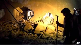 Разрушенный дом Саифа аль-Араба Каддафи