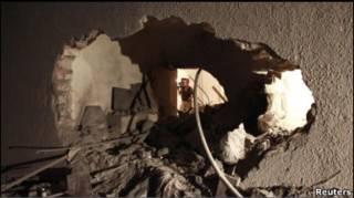 Комплекс сина Каддафі, на який було здійснено напад
