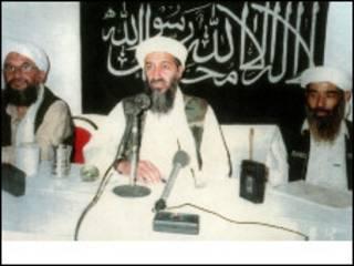 Usama Bin laden da AymanAlzawahir da Muhammad Atef