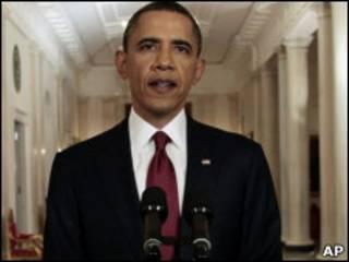 Barack Obama, durante pronunciamento no qual anunciou a morte de Osama Bin Laden (AP)