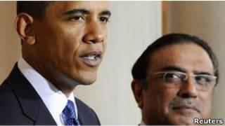 زرداری و بارک اوباما